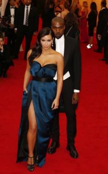 Kim Kardashian, Kanye West at 2014 Met Gala