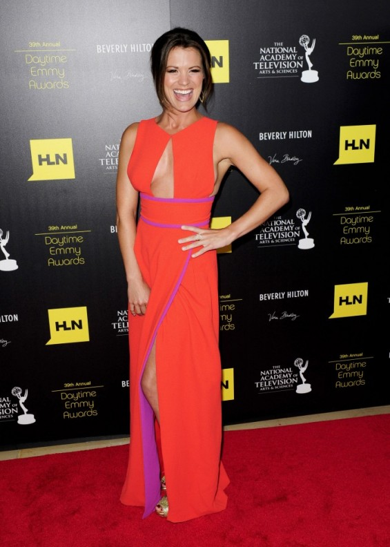 Actress Melissa Claire Egan arrives at the 39th Daytime Emmy Awards in Beverly Hills, California