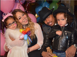 Mariah Carey and Nick Cannon with their twins, Moroccan and Monroe