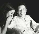 Lea Michele and Cory Monteith in a photo the actress shared with her fans on the actor's birthday