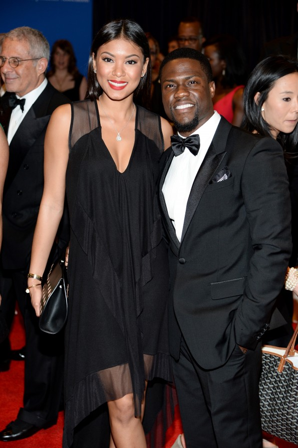 Kevin Hart (R) and Eniko Parrish