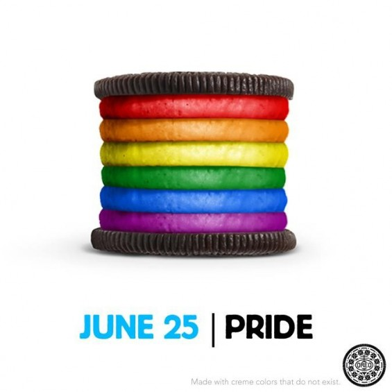 Rainbow Oreo Cookie