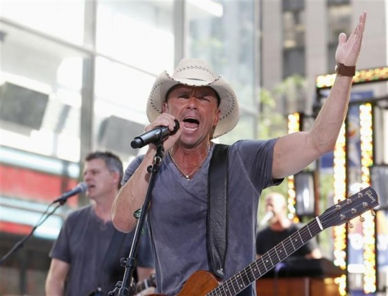 Singer Kenny Chesney performs on NBC's 'Today' show in New York, June 22, 2012.
