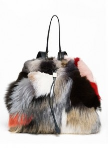 Mary-Kate and Ashley Olson Row fur backpack