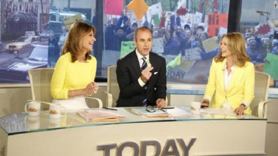 "Savannah Guthrie, Matt Lauer on ""Today"" show"