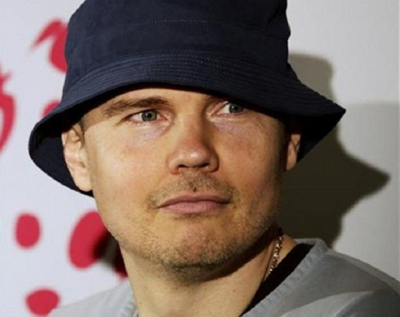 Billy Corgan, lead singer of The Smashing Pumpkins, attends a news conference in Mexico City August 25, 2010.