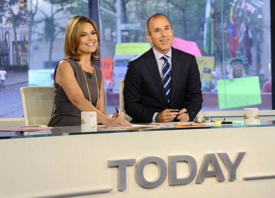 Savannah Guthrie joins Matt Lauer at the anchor desk of the TODAY show.