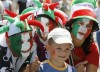 Soccer fans of Italy pose for a picture in the Euro 2012 fan zone in Kiev, July 1, 2012.