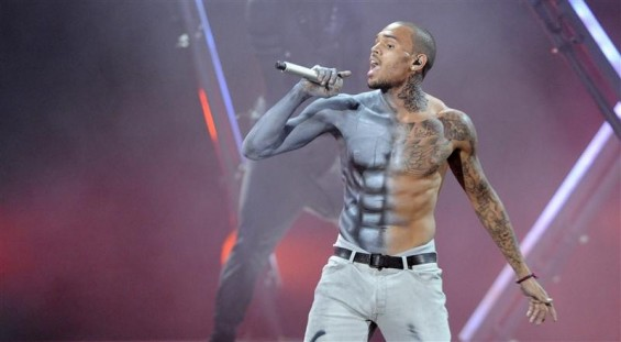 Chris Brown performs at the 2012 BET Awards in Los Angeles on July 1, 2012.