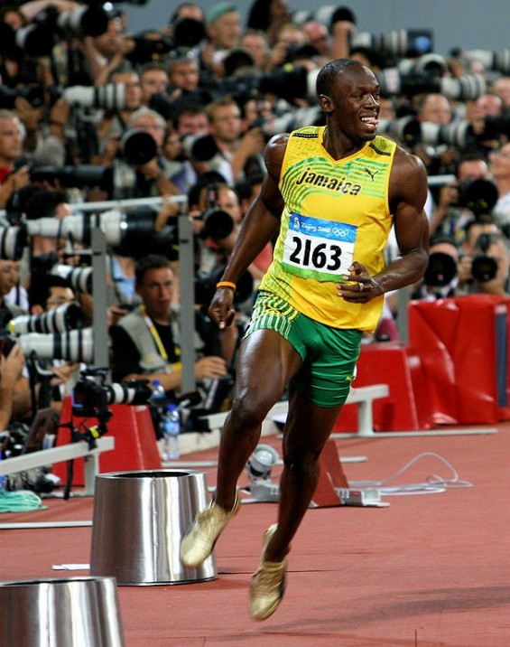 Jamaican sprinter Usain Bolt