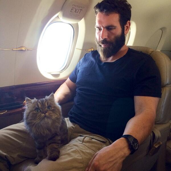Photo of Dan Bilzerian & his  Cat Smushball