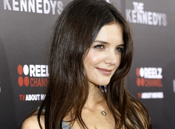 Cast member Katie Holmes poses at the premiere of the television series &#034;The Kennedys&#034; at the Samuel Goldwyn theatre in Beverly Hills, California March 28, 2011.