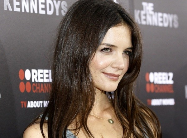 """Cast member Katie Holmes poses at the premiere of the television series """"The Kennedys"""" at the Samuel Goldwyn theatre in Beverly Hills, California March 28, 2011."""