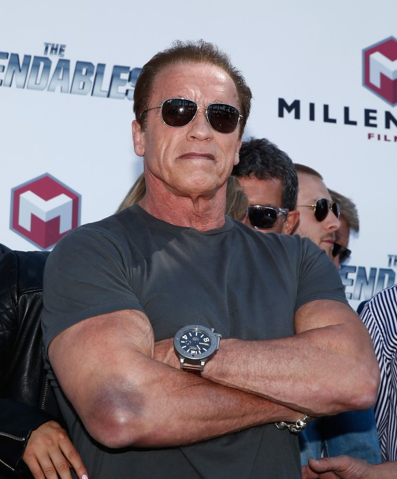 Arnold Schwarzenegger attends 'The Expendables 3' photocall during the ... Arnold Schwarzenegger