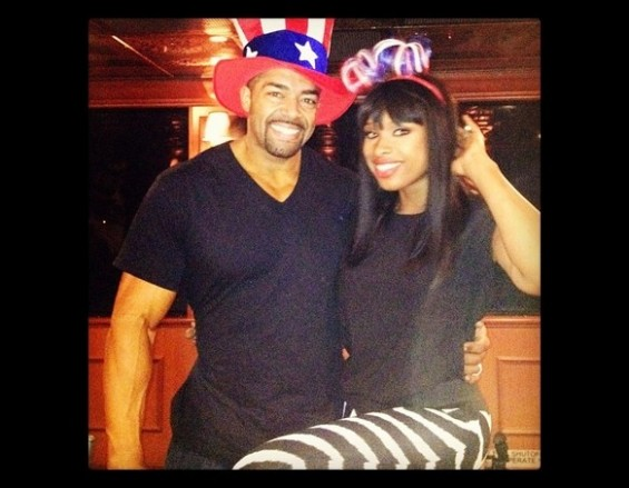 Jennifer Hudson with fiancee David Otunga