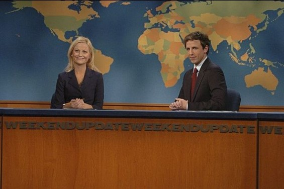 Seth Meyers and Amy Poehler on Saturday Night Live.