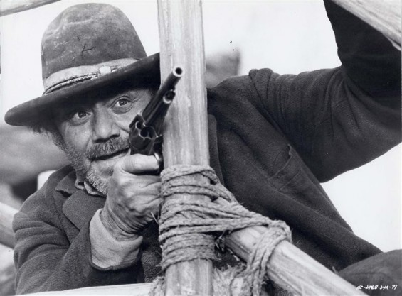 "Actor Ernest Borgnine is shown in a scene from his 1971 film ""Hannie Caulder"" in this undated publicity photograph."