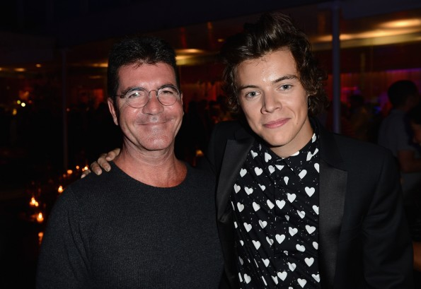 Simon Cowell and Harry Styles
