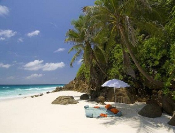 Picnic area in North Island, in the Seychelles archipelago Source Wandotravel.com