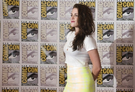 "Kristen Stewart arrives for a panel discussion for the upcoming film ""The Twilight Saga Breaking Dawn Part 2"" at Comic-Con in San Diego, California July 12, 2012."