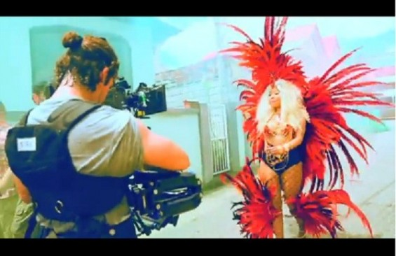 "Nicki Minaj behind-the-scenes on ""Pound the Alarm"""