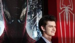 """Cast member Andrew Garfield poses at the premiere of """"The Amazing Spider-Man"""" at the Regency Village theatre in Los Angeles, California June 28, 2012."""