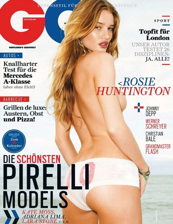 Rosie Huntington-Whiteley in GQ Magazine August 2012 Cover