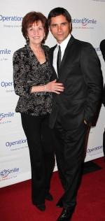 Loretta Stamos (L) and actor John Stamos