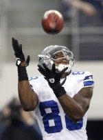 Dallas Cowboys wide receiver Dez Bryant fields a punt against the Seattle Seahawks