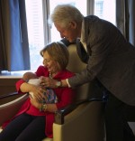 Bill Clinton, Hillary Clinton and granddaughter