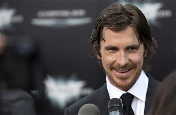 "Cast member Christian Bale attends the world premiere of ""The Dark Knight Rises"" in New York July 16, 2012."