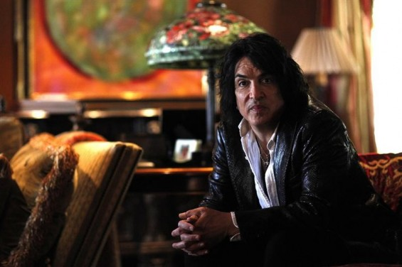 Paul Stanley, lead vocalist of rock band Kiss, poses for a portrait at his home in Beverly Hills, California May 15, 2012.