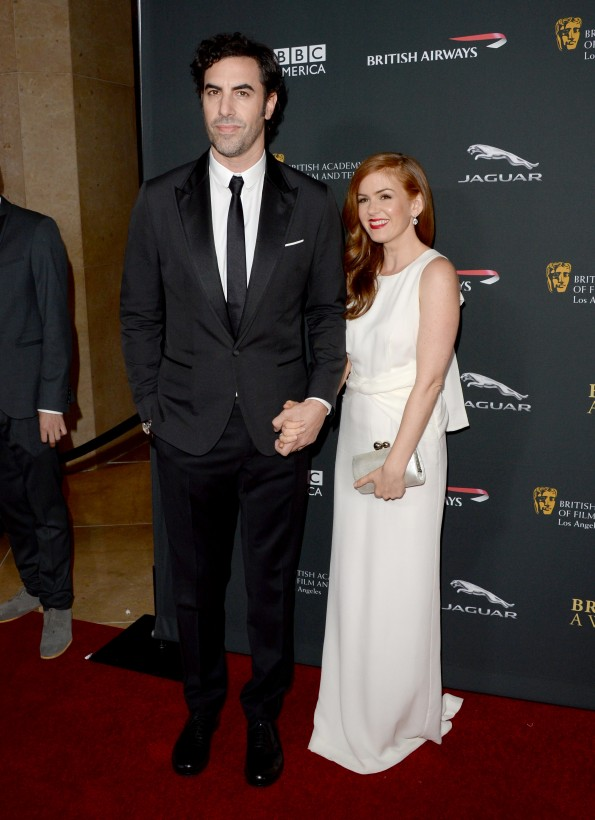 Sacha Baron Cohen (L) and Isla Fisher