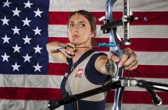 Archer Jennifer Nichols poses for a portrait during the 2012 U.S. Olympic Team Media Summit in Dallas, Texas May 13, 2012.