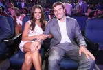 Danica Patrick (L) and Ricky Stenhouse Jr.