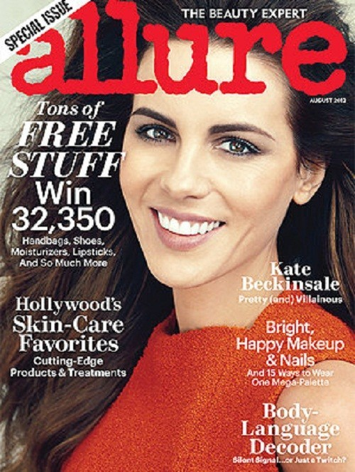 Kate Beckinsale on the August cover of Allure magazine, 2012.