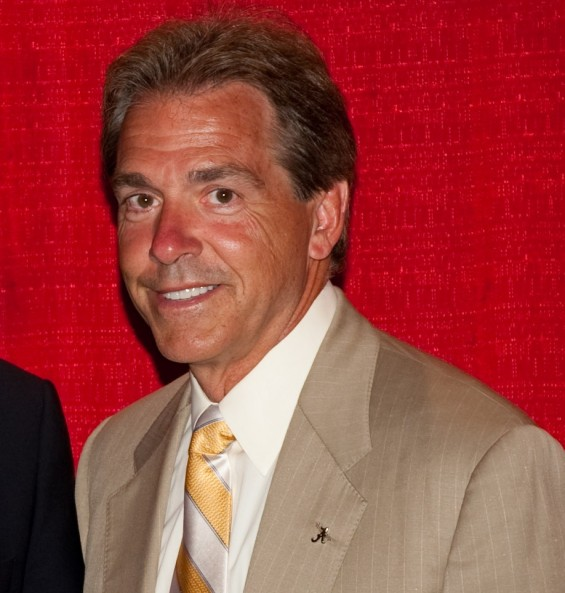 University of Alabama football coach Nick Saban