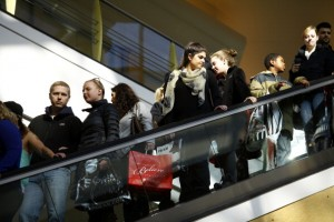 Shoppers Take Advantage of Black Friday Deals, Nov. 29, 2013
