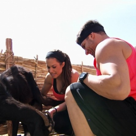 Brooke and Robbie Try To Milk A Goat On 'The Amazing Race' Season 25