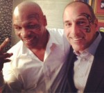 "Mike Tyson and Matt Lauer pose backstage on the ""Late Night"" show with Jimmy Fallon with the same face tattoo on July 19."