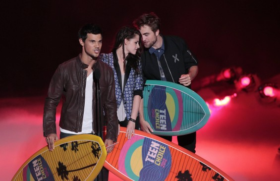 """Twilight"" stars Taylor LautnerKristen Stewart and Robert Pattinson"