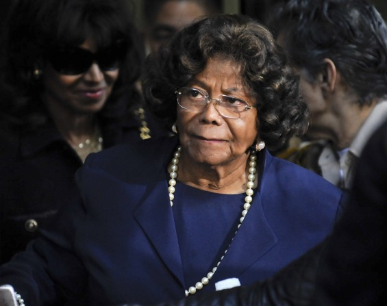 Michael Jackson's mother Katherine Jackson leaves the sentencing hearing of Dr. Conrad Murray, who was convicted of involuntary manslaughter in the death of her son pop star Michael Jackson, in Los An