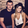 Johnny Manziel and Colleen Crowley