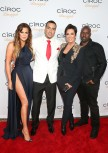 (L-R) Khloe Kardashian, French  Montana, Kris Jenner and Corey Gamble