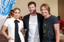Jennifer Lopez, Harry Connick Jr. and Keith Urban