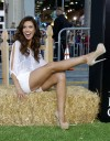 Audrina Patridge, Pictured Sitting Atop A Haystack At Grauman's Chinese Theatre in Los Angeles