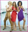 Annie Ilonzeh, Rachel Taylor and Minka Kelly of &#039;Charlie&#039;s Angels,&#039; 