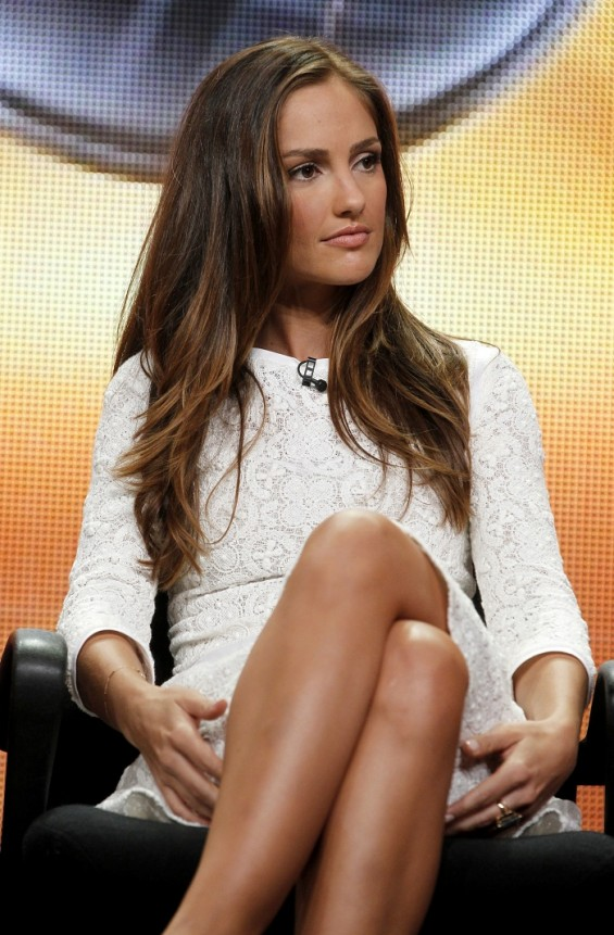 Actress Minka Kelly, star of the new series &#034;Charlie&#039;s Angels&#034;, takes part in a panel session at the ABC Summer TCA Press Tour in Beverly Hills , California August 7, 2011. R
