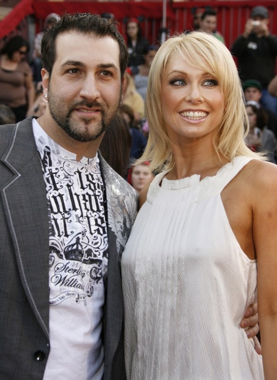 "Joey Fatone and Kym Johnson (DWTS) pose at the premiere of ""Pirates of the Caribbean: At World's End"" at Disneyland in Anaheim, California May 19, 2007."