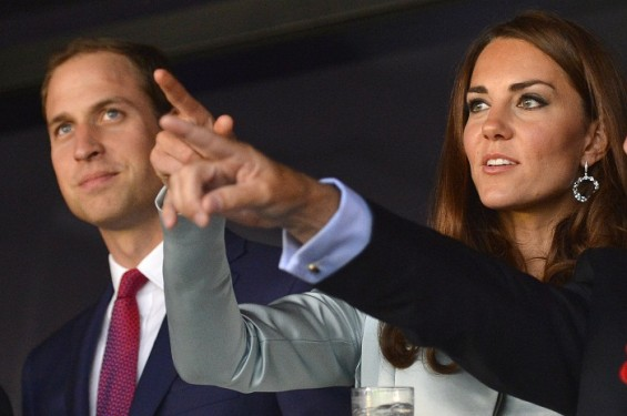 Britain's Prince William and his wife Catherine, Duchess of Cambridge arrive for the opening ceremony of the London 2012 Olympic Games at the Olympic Stadium July 27, 2012.